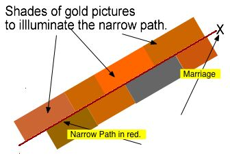 Golden pictures a-side the narrow path